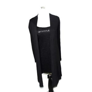 Black sequin top and cardigan duo!